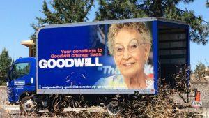 Goodwill Truck woman