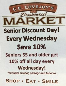 Sr. Discount Day Lovejoy's